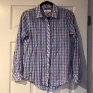 women's relaxed gingham button down